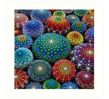 Jewel Drop Mandala Stone Collection #1 Art Print