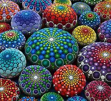 Jewel Drop Mandala Stone Collection #1 by Elspeth McLean
