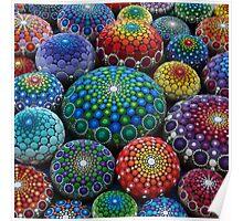 Jewel Drop Mandala Stone Collection #1 Poster