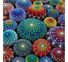 Jewel Drop Mandala Stone Collection #1 Photographic Print