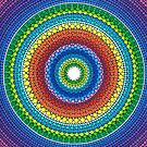Happy Rainbow Mandala by Elspeth McLean
