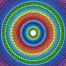 Happy Rainbow Mandala by Elspeth McLean