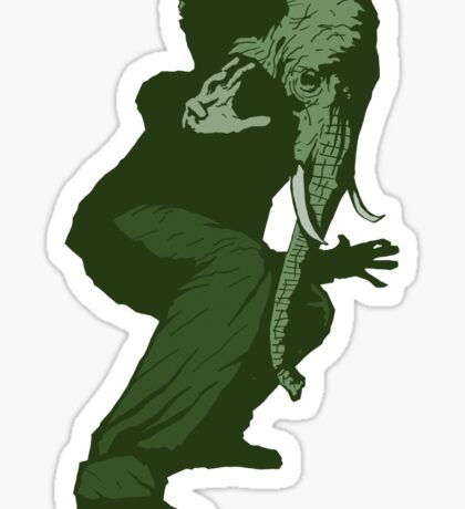Just Some Green Guy With An Elephant Head Sticker