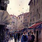 Venetian Street at Sunset by Joe Cartwright