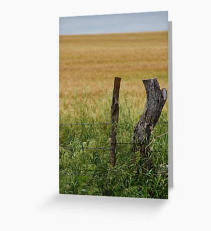 The fencepost by itself Greeting Card