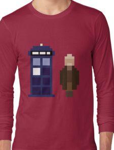 Pixel War Doctor and TARDIS Long Sleeve T-Shirt