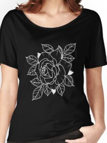 Single White Rose Women's Relaxed Fit T-Shirt