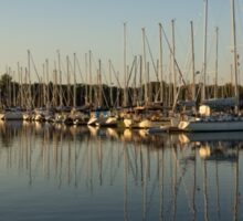 Reflecting on Yachts and Sailboats Sticker