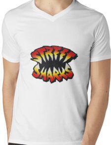 Street Sharks Large Mens V-Neck T-Shirt