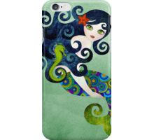 Aquamarine, the Teenage Mermaid iPhone Case/Skin