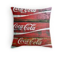 Red Wooden Crates Throw Pillow