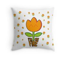 I am on fire with patter Throw Pillow