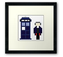 Pixel 12th Doctor and TARDIS Framed Print