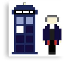Pixel 12th Doctor and TARDIS Canvas Print
