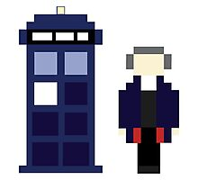 Pixel 12th Doctor and TARDIS Photographic Print