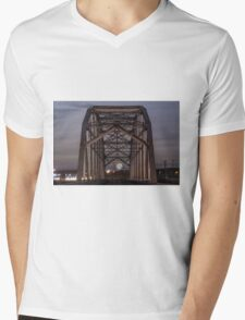 Moon Bridge Mens V-Neck T-Shirt