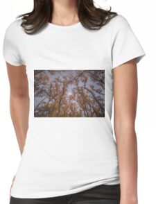Fall Moon Womens Fitted T-Shirt