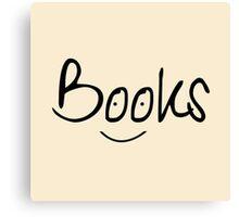 Books Smile Canvas Print