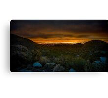 Valley of Lights Canvas Print