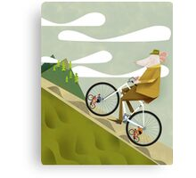Hamster Cyclist Road Bike Poster Canvas Print