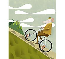 Hamster Cyclist Road Bike Poster Photographic Print
