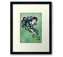Aquamarine Mermaid Framed Print