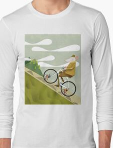 Hamster Cyclist Road Bike Poster Long Sleeve T-Shirt