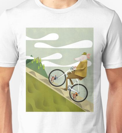 Hamster Cyclist Road Bike Poster Unisex T-Shirt