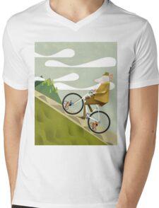 Hamster Cyclist Road Bike Poster Mens V-Neck T-Shirt