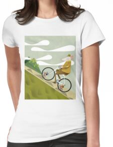 Hamster Cyclist Road Bike Poster Womens Fitted T-Shirt