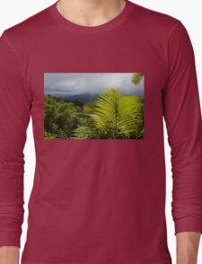 Tropical Rainforest - Jungle Green and Rain Clouds Long Sleeve T-Shirt
