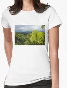 Tropical Rainforest - Jungle Green and Rain Clouds Womens Fitted T-Shirt