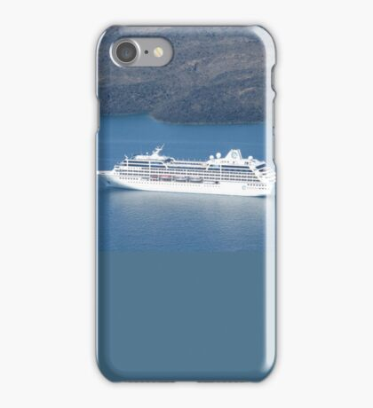 TOURIST LINER VISITS MYKONOS iPhone Case/Skin
