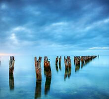 Clifton Springs Jetty Ruins by Darryl Leach