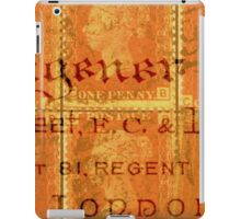 British Themed Collage of Antique Stamps and Document iPad Case/Skin