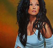 Diana Ross painting by PaulMeijering