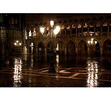 Venice at Night 1 Photographic Print