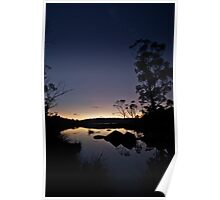 As night falls and reflects on the day Poster