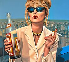 Joanna Lumley as Patsy Stone painting by PaulMeijering