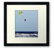 Water, Wind and Sky Blue Framed Print