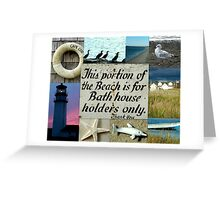 Beach Themed Collage Greeting Card