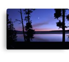 Yellowstone Lake Dusk Reflections  Canvas Print
