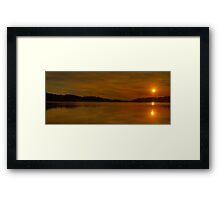 Golden Wishes - Narrabeen lakes, Sydney Australia - The HDR Experience Framed Print