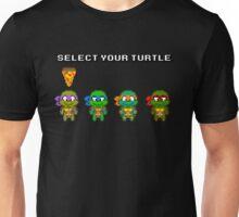 Select Your Turtle (Donatello) - TMNT Pixel Art Unisex T-Shirt