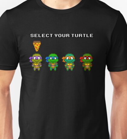 Select Your Turtle (Donatello) - TMNT Pixel Art Unisex T-Shirt
