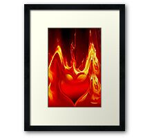 Heart is burning Framed Print