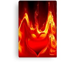 Heart is burning Canvas Print