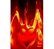 Heart is burning Photographic Print