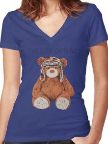 Gambino Bear Women's Fitted V-Neck T-Shirt