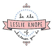 Be the Leslie Knope of Whatever You Do - Blue & Pink by racheladditon